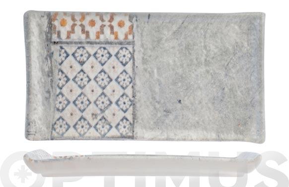 Bandeja stoneware malaga 15 x 9 cm rectangular