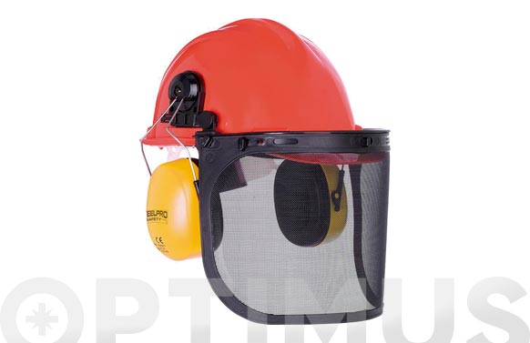 Casco forestal kit completo casco, pantalla y protector auditivo