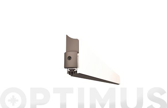 Burlete bajo puerta aluminio/goma retractil 103 cm blanco