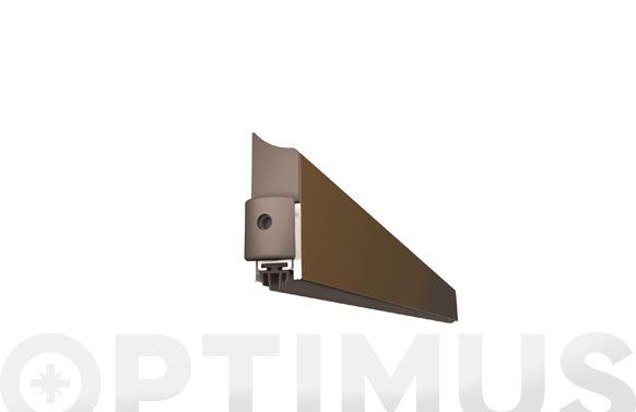 Burlete bajo puerta aluminio/goma retractil 93 cm marron