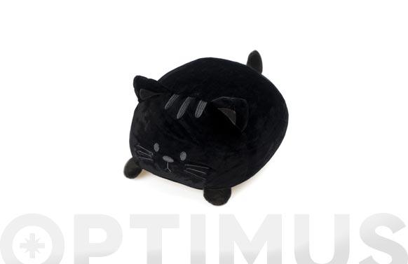 Cojin forma poliester gato negro