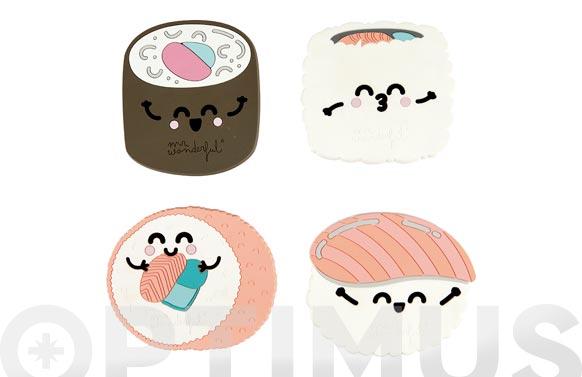 Posavasos mr wonderful silicona set 4 uds sushi