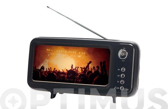 Soporte smartphone & radio retro tv