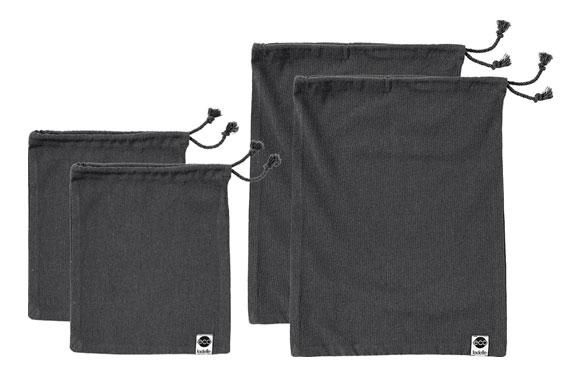 Bolsa verduras algodon eco set 4 u 2x 22x27 + 2x 30x40 cm