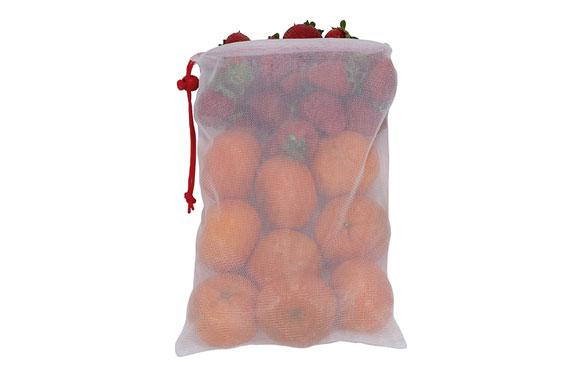Bolsa malla reutilizable para vegetales exp 24 uds nilon -set 6 uds