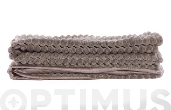 Manta poliester 380 gr. 130x170 cm marron