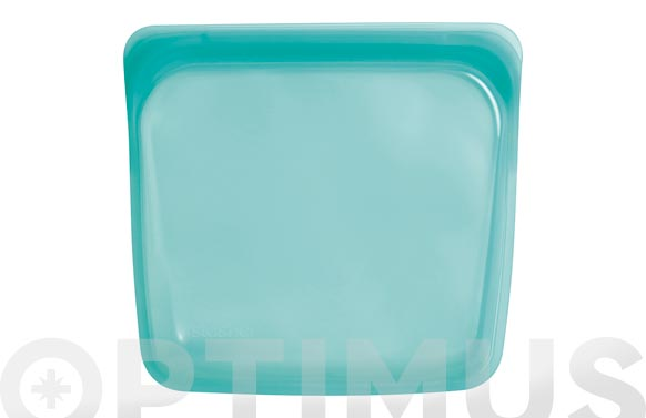 Bolsa silicona reutilizable mediana 450 ml azul