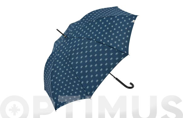 Paraguas plegable señor automatico cassete azul