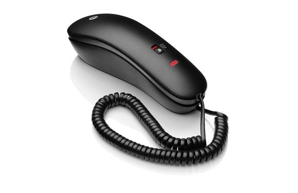 Telefono gondola con cable negro