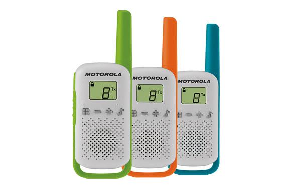 Intercomunicador walkie talkie triple pack red