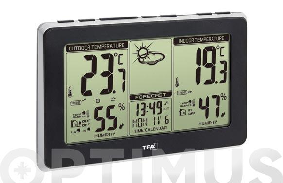 Estacion meteorologica digital sensor termo-higro negro