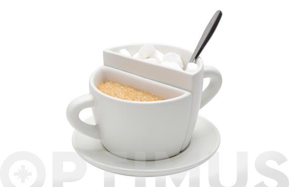 Azucarero doble ceramica taza