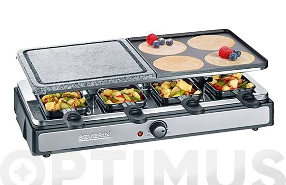 Raclette grill piedra 8 personas 1400 w