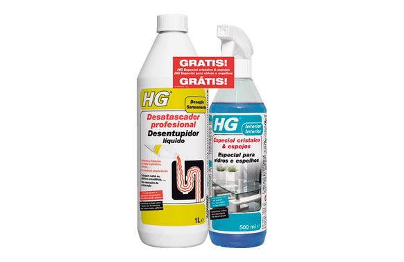 Desatascador potente 1l regalo limpiacristales y espejos 500 ml