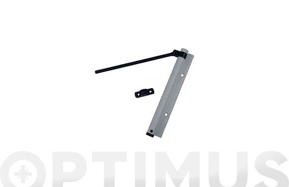 Muelle cierrapuertas brazo blanco 165 mm