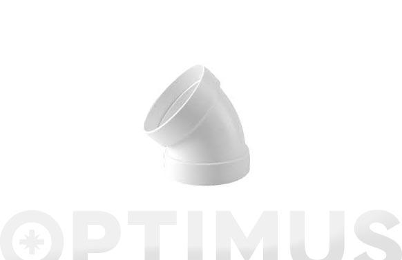 Codo estanco 45. aluminio blanco ø 100 mm