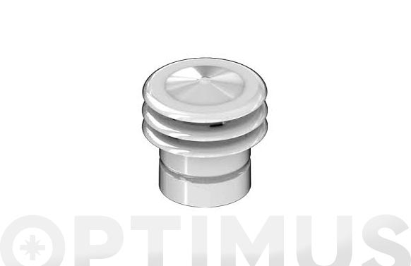 Deflector tres aros aluminio blanco ø 110 mm