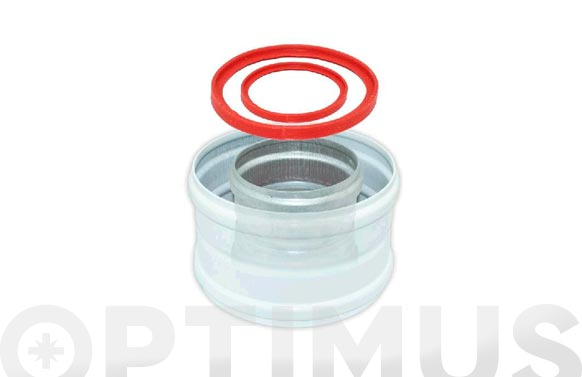 Manguito coaxial aluminio blanco ø 60/100