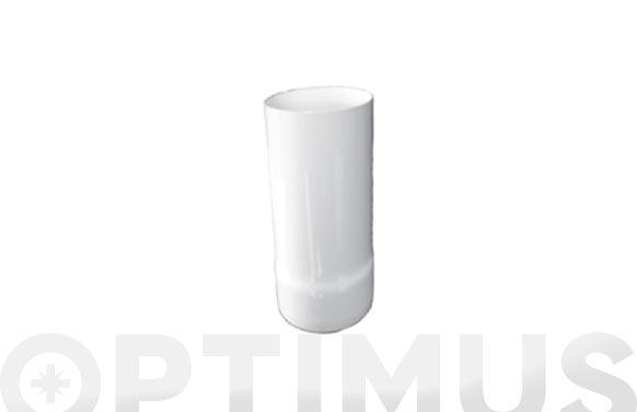 Tubo estanco macho/hembra aluminio blanco ø 100 50 cm
