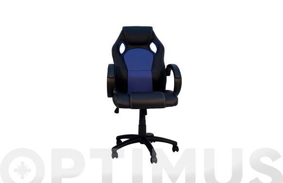 Silla oficina gaming parallax azul / negro