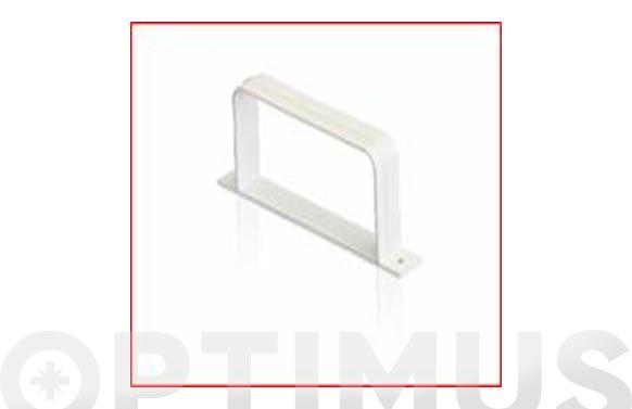 Abrazadera rectangular tubo extraccion pvc 110 x 55 mm