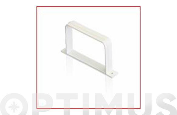 Abrazadera rectangular tubo extraccion pvc 150 x 75 mm