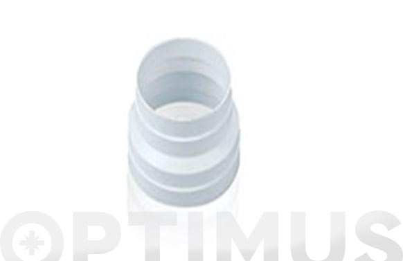 Aro reductor tubo extraccion pvc ø 125 x 100 mm