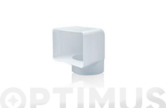 Codo vertical tubo extraccion pvc ø 3,5 150 x 75 mm