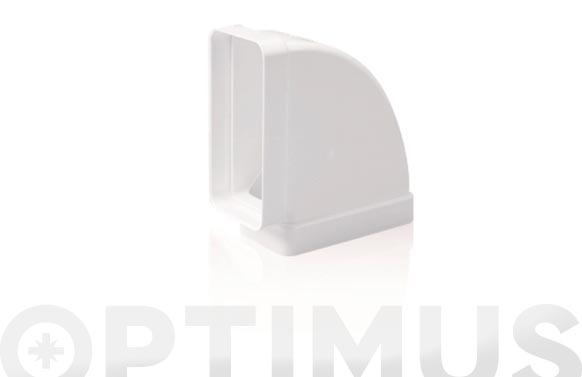 Codo rectangular horizontal 90. tubo extraccion pv 150 x 75 mm