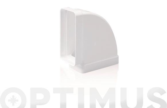 Codo rectangular horizontal 90. tubo extraccion pv 110 x 55 mm