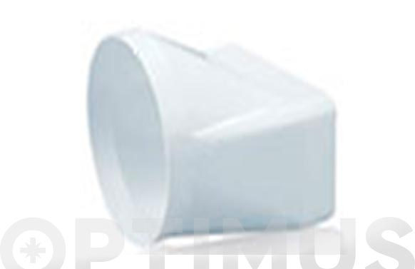 Empalme mixto tubo extraccion pvc ø 100-110 x 55 mm