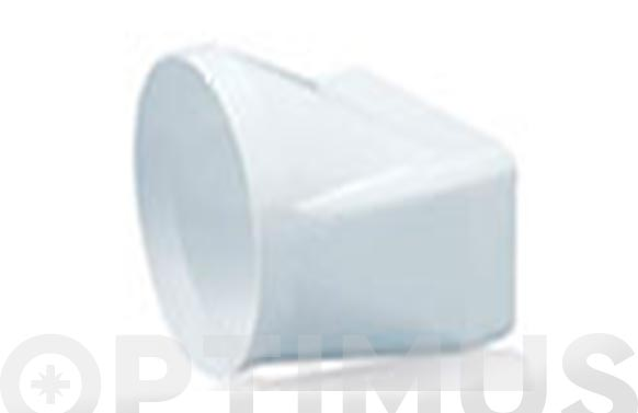 Empalme mixto tubo extraccion pvc ø 120-150 x 75 mm