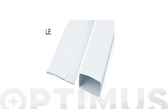 Tubo extraccion plegable pvc rectangular 1 m - 110 x 55 mm