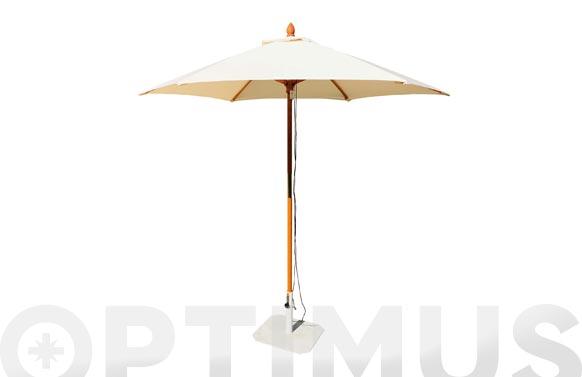 Parasol madera crudo 250 cm tubo 38 mm