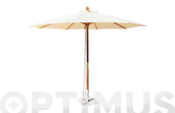 Parasol madera crudo 300 cm tubo 48 mm