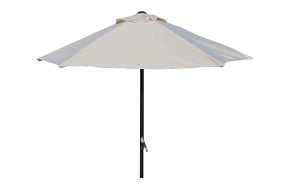Parasol aluminio arena 200 cm tubo 32 mm con manivela