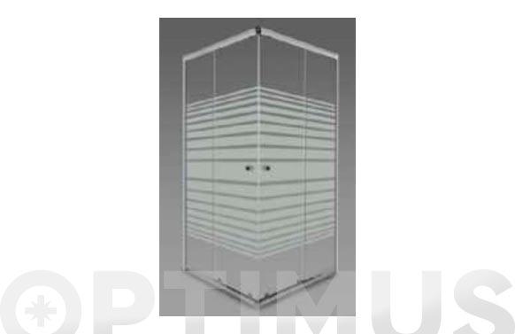 Mampara para bañera vidrio blanca 185 x 80 x 80 cm
