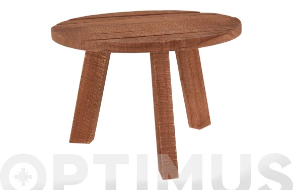 Mesa madera teka baja ø 50 x 34 cm