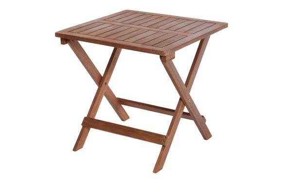 Mesa auxiliar plegable acacia 45 x 45 x 45 cm