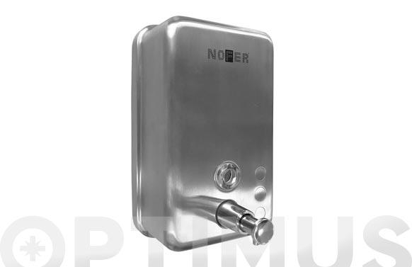 Dispensador de jabon con deposito interior acero inox satinado