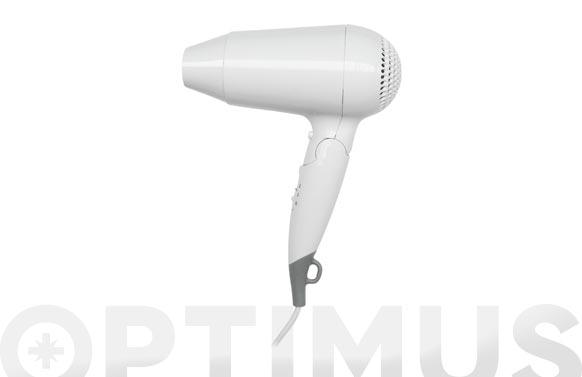Secador de pelo mango plegable 2 velocidades, 1160 w - blanco