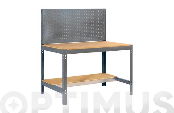 Banco trabajo metalico sobre madera bt2/1200 gris 1445 x 1210 x 610 mm