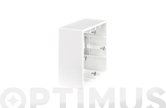Caja de superficie para mecanismo blanco