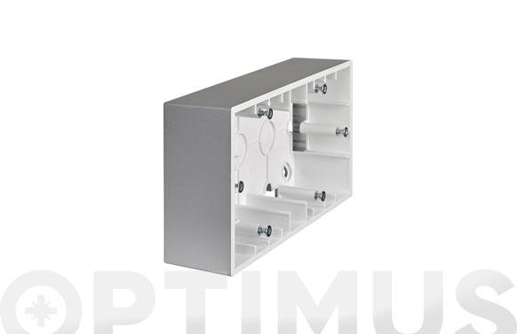 Caja doble de superficie para mecanismo aluminio