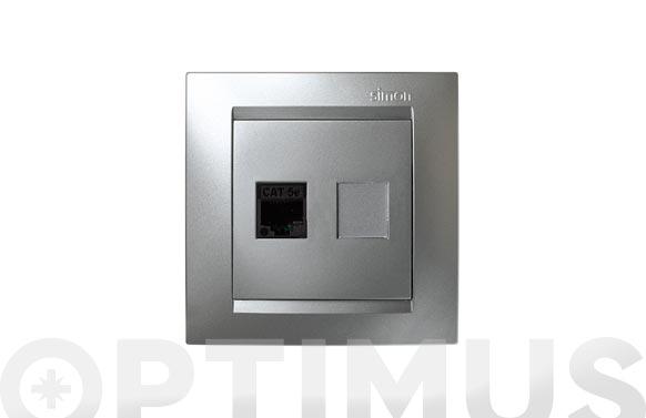 Toma rj45 aluminio serie 15