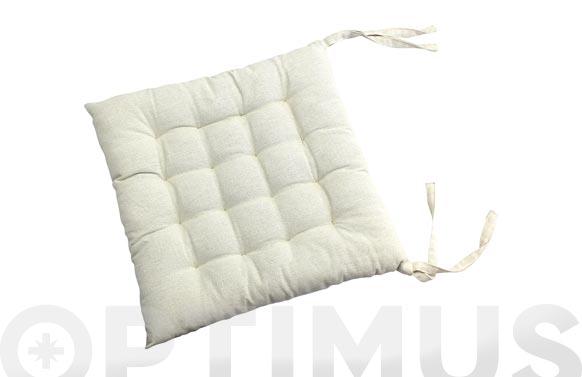 Cojin silla algodon crudo 40 x 40 cm