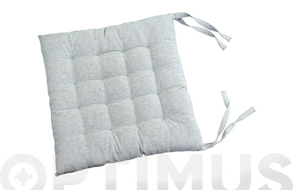 Cojin silla algodon gris claro 40 x 40 cm
