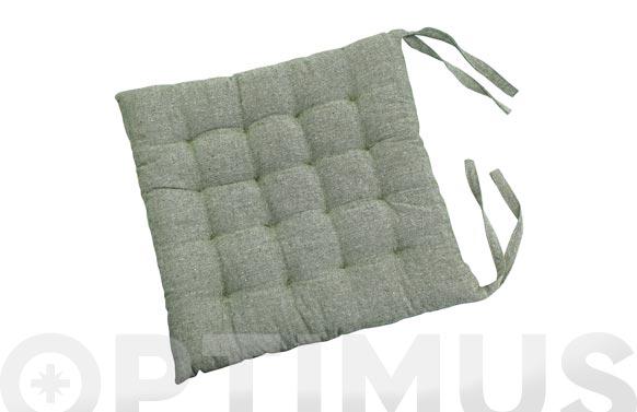Cojin silla algodon verde oliva 40 x 40 cm