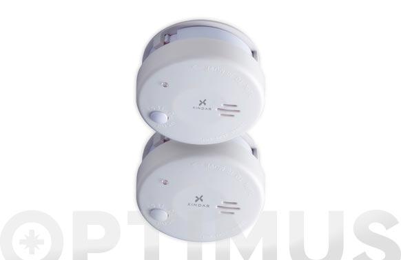 Detector de humo mini pack 2 uds