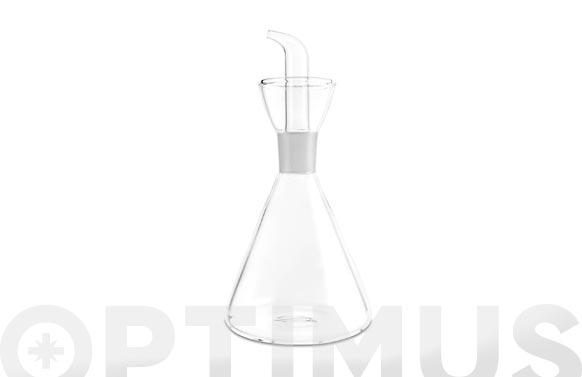 Aceitera vinagrera vidrio conica antigoteo 250 ml